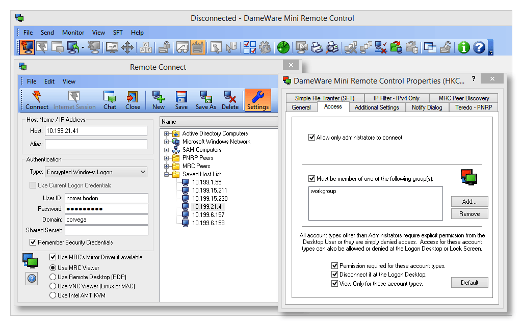 Remote Control Software - Remote Desktop Tool | Dameware