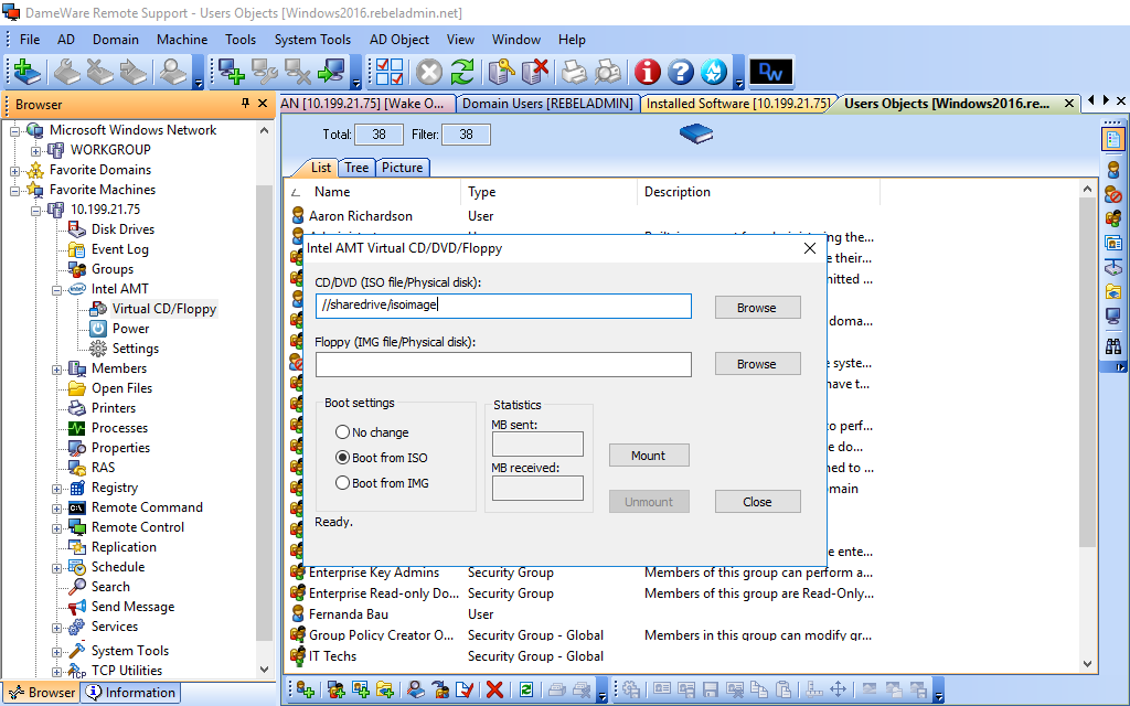 Remote Management - Intel vPro Technology with AMT | Dameware